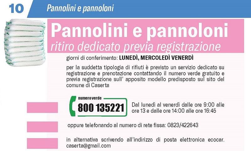 pannolini CASERTA, DIFFERENZIATA: PARTE LA RACCOLTA NOTTURNA