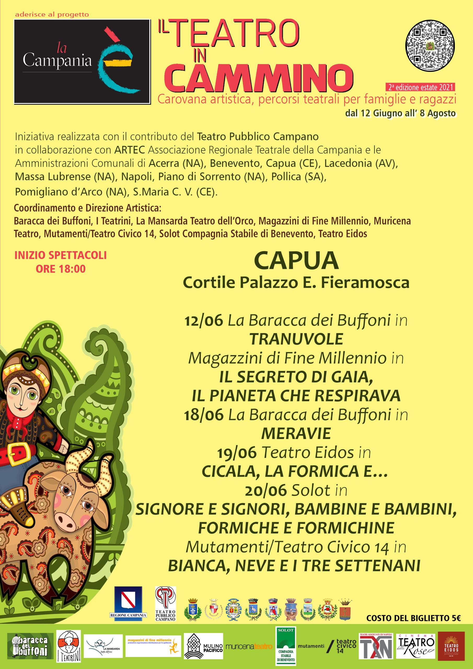 Eventi Capua scaled TEATRO IN CAMMINO, II EDIZIONE: PERCORSI TEATRALI PER FAMIGLIE E RAGAZZI