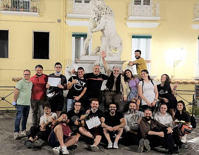 La troupe e il cast SESSA AURUNCA. LODORE DEL BUIO, TERMINATE LE RIPRESE DEL CORTOMETRAGGIO