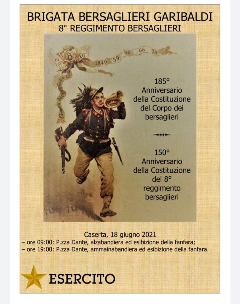 %name BRIGATA GARIBALDI: L8° REGGIMENTO COMPIE 150 ANNI