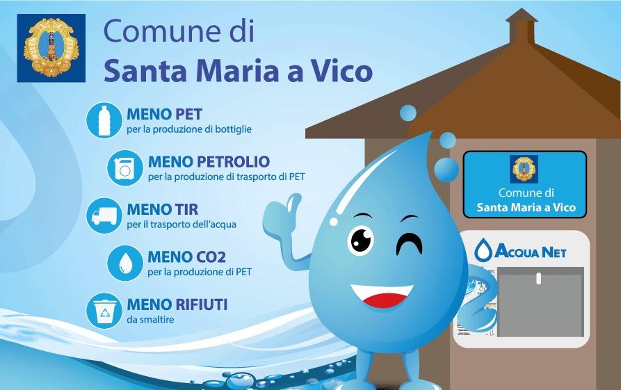 acqua1 SANTA MARIA A VICO, PRONTE DUE CASETTE DELLACQUA, OBIETTIVO: INCENTIVARE LUSO DELLACQUA PUBBLICA