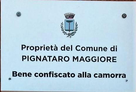 BENE CONFISCATO LOdG AL FIANCO DI MINIERI E PALMESANO