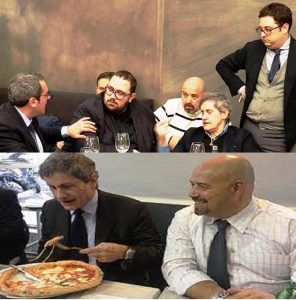 FOTO DIRIGENTI CAMPANI CON ALEMANNO LOPA PIZZA 1 296x300 PROSCIOLTO GIANNI ALEMANNO, ROSARIO LOPA: IL TRIONFO DELLA VERITÀ