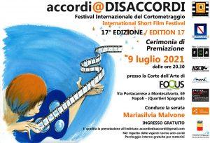Locandina Web Cerimonia di Premiazione accordi @ DISACCORDI 17.ma Edizione 300x204 ACCORDI @ DISACCORDI, FESTIVAL INTERNAZIONALE DEL CORTOMETRAGGIO IL 9 LUGLIO