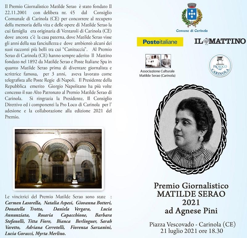 %name PREMIO MATILDE SERAO AL DIRETTORE DE LA NAZIONE AGNESE PINI