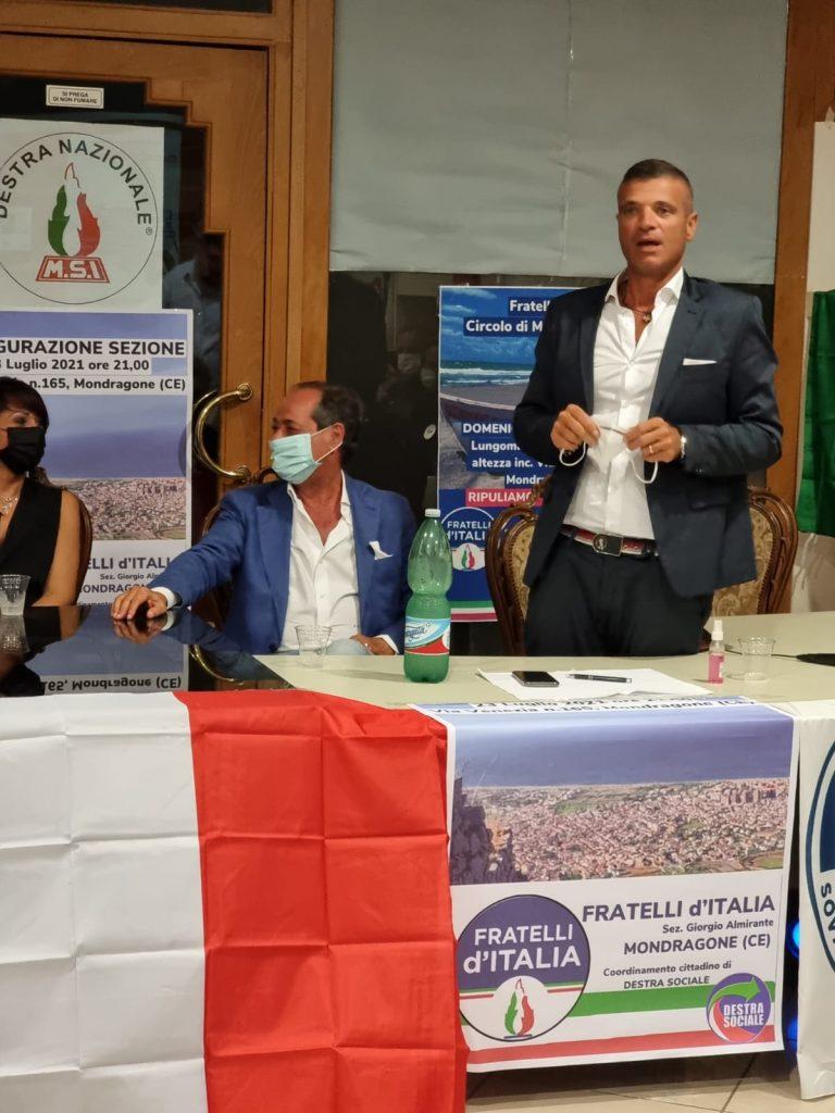 %name MONDRAGONE, INAUGURATA LA SEZIONE DI FRATELLI DITALIA