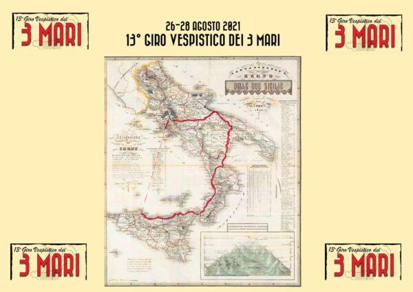 3 mar fold 600x424 2 DALLA REGGIA DI CASERTA PARTIRA IL 13° GIRO VESPISTICO DEI TRE MARI