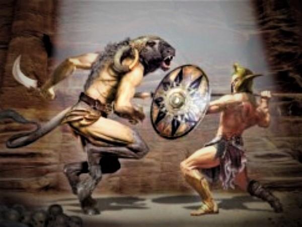 """Minotauro e Teseo 1200x900 1 """"MINOTAURO: STORIA DI EROS E THANATOS"""": APERTURA STRAORDINARIA DELL'ANFITEATRO CAMPANO E DEL MUSEO ARCHEOLOGICO ANTICA CAPUA"""