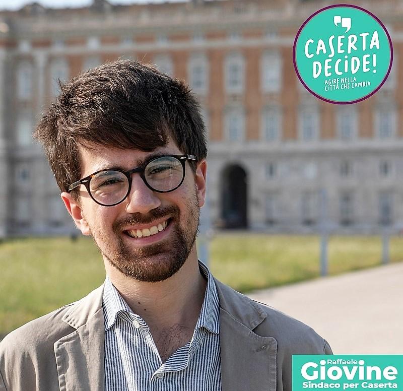 Raffaele GIOVINE con logo GIOVINE (CASERTA DECIDE): I PROGRAMMI DEGLI ALTRI CANDIDATI SINDACI DOVE SONO?