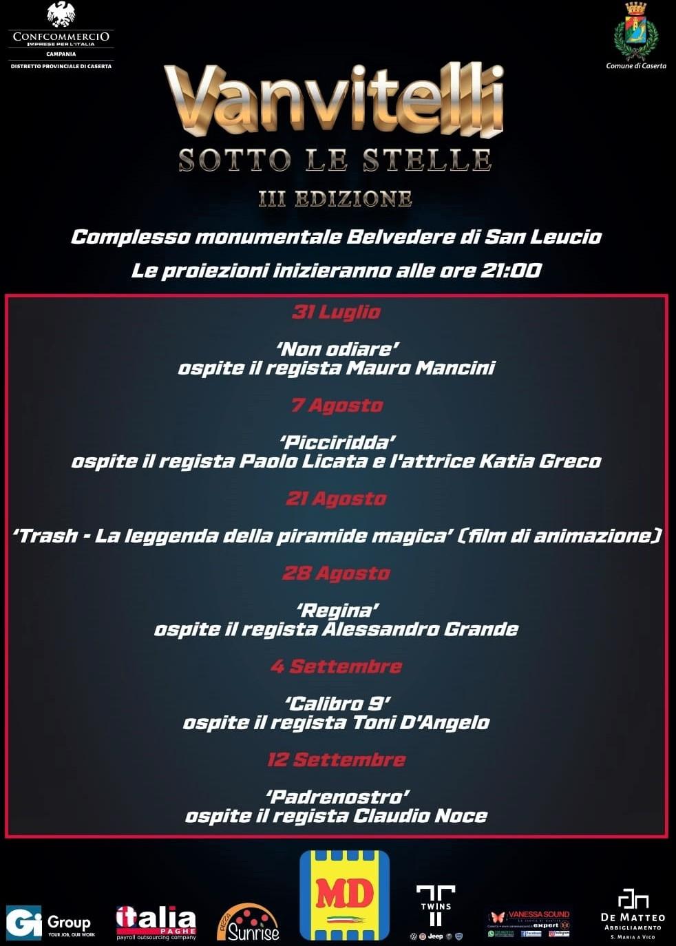 locandina Vanvitelli sotto le stelle III edizione AL 'VANVITELLI SOTTO LE STELLE' 'TRASH – LA LEGGENDA DELLA PIRAMIDE MAGICA'