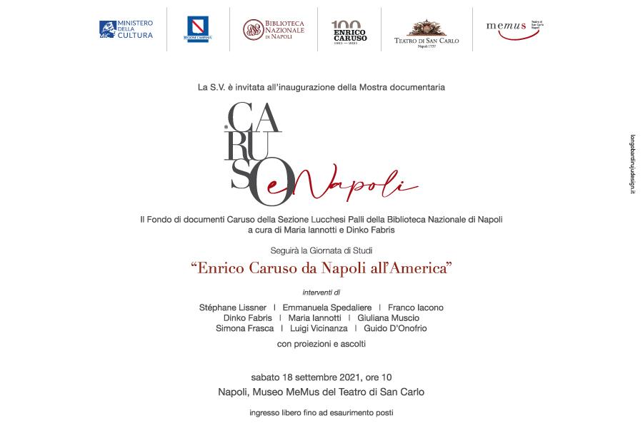 EBLAST ENRICO CARUSO2 NAPOLI, AL SAN CARLO WEEKEND DEDICATO AD ENRICO CARUSO