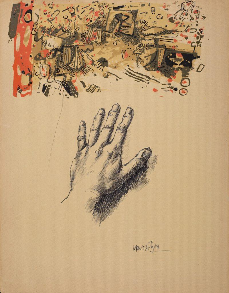 Federico Montañana Alba Tecnica mista su carta 66x51cm 800x1024 ROMA, PER LA PRIMA VOLTA IN ITALIA EXILIARTE  MEMORIA DI UNA CARTELLA DEDICATA A RAFAEL ALBERTI