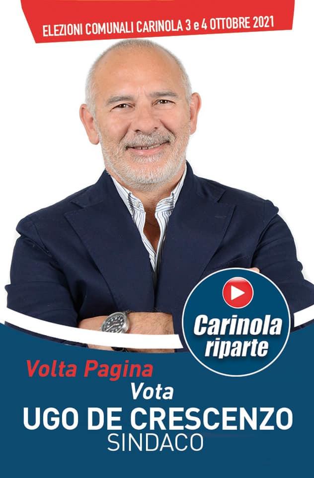 Ugo De Crescenzo UGO DE CRESCENZO (CARINOLA RIPARTE): ABBIAMO UN SOGNO