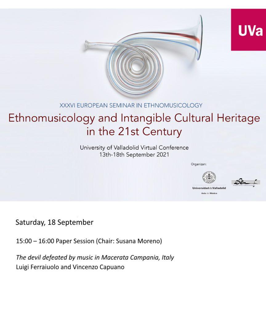 XXXVI European Seminar in Ethnomusicology 864x1024 MACERATA CAMPANIA, LA MUSICA DI SANTANTUONO VOLA IN SPAGNA AL XXXVI SEMINARIO EUROPEO DI ETNOMUSICOLOGIA