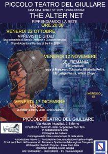 Locandina Salerno OTT DIC page 0001 212x300 THE ALTER NET, RIPARTONO LE PROIEZIONI DEL TAM TAM DIGIFEST