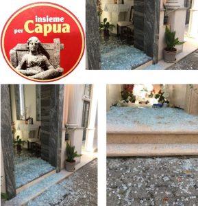 foto danni cimitero 289x300 EPISODI VANDALICI AL CIMITERO, INSIEME PER CAPUA CHIEDE PROVVEDIMENTI