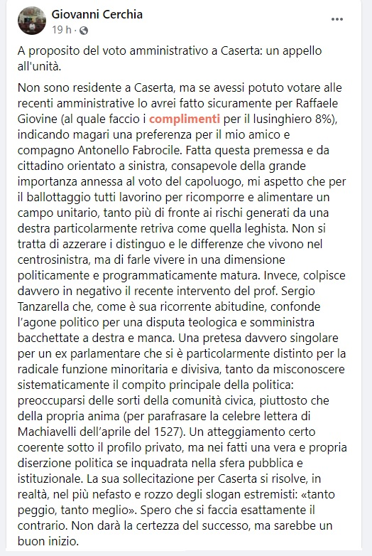 post Cerchia GIANNI CERCHIA, INTELLIGENZA & SINTESI